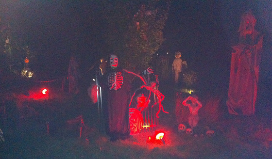 Hightstown Halloween Display 1