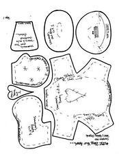 molde (alinnerj) Tags: natal fuxico feltro pap molde duende passoapasso moldedenatal nataldefeltro