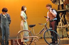 The 1930s, including the Schwinn is the setting of this scene from The Diviners. (Len Radin) Tags: thediviners jimleonard leonard diviners dramateam drury highschool drama theatre northadams stage radin edta thespians its thespian drurydramateam wwwdrurydramacom play theater drurydrama bike bicycle