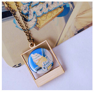Ice Cream Polaroid Necklace
