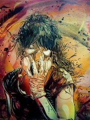 C215 - Portrait of Liliwenn (C215) Tags: streetart art french graffiti stencil christian pochoir masacara szablon c215 schablon gumy piantillas