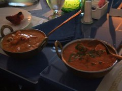 Butter chicken and chicken tikka masala