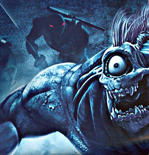 """ TMNT "" AUSTRALIAN teaser poster { TMNT v. SPITEX & Foot  } / detail A  (( 2007 ))"