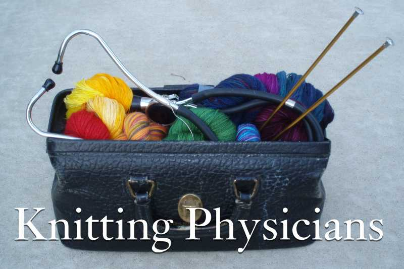 Knitting Physicians Button