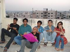 (sharat) Tags: trip india terrace kites sankranti 2007