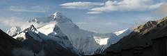 Mount Everest Panorama (SqueakyMarmot) Tags: china travel panorama mountain asia tibet monastery himalayas photostitch mounteverest mountainrange rongbuk qomolangma lpmountains