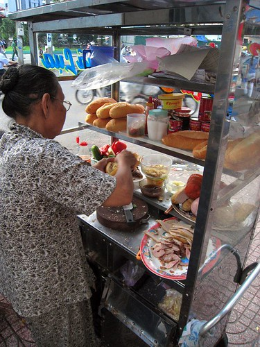 A great banh mi stand near our hotel