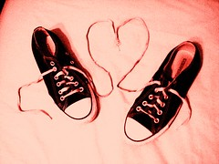 red converse heart
