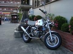 Kyoto monkey / 1 (Anders Hansen) Tags: bike honda monkey kyoto chrome motorcycle customized