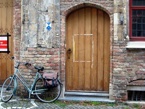 Brugge - Bike and a Door