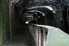 The Darkie (David Hannah) Tags: summer wet underground canal scary industrial 1800s rusty tunnel ghosts slime towpath 2007 falkirk unioncanal undergroundwater pouringwater lightattheend edinburghtofalkirk