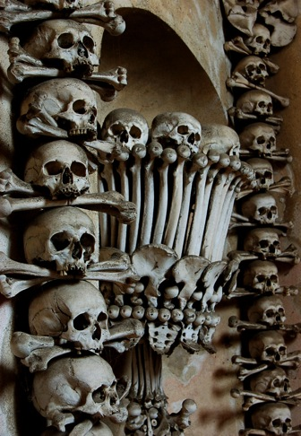 Bone Chalice and Hanging Skulls