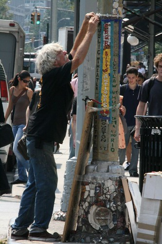 Jim Power - the Mosaic Man - at work on Astor Place
