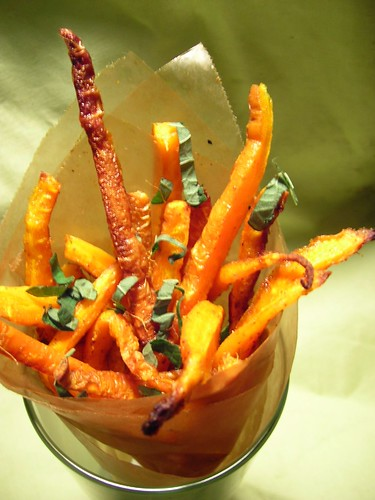 Carrot Fries with Fresh Mint
