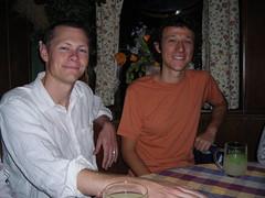 At the Schnitzelwirt (PaulLamere) Tags: vienna dinner ismir ismir2007