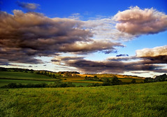 Billowy (Nicholas_T) Tags: summer sky field clouds rural landscape lowlight pennsylvania hills creativecommons berkscounty stratocumulus albanytownship