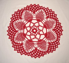 Pineapple Petals Doily 04