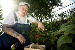 "Chef Ria Pell in the garden • <a style=""font-size:0.8em;"" href=""http://www.flickr.com/photos/81926699@N00/5102109331/"" target=""_blank"">View on Flickr</a>"