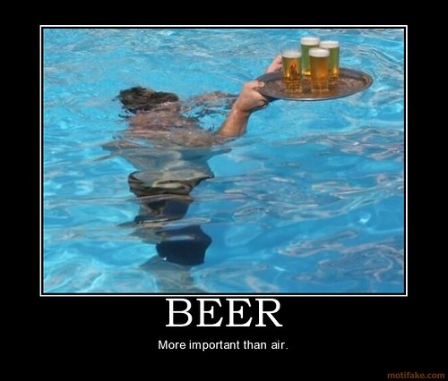 priorities demotivational poster. beer-beer-water-air-priorities