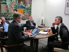 Interview with New York Times (Norway UN (New York)) Tags: prime un jens visits minister stoltenberg