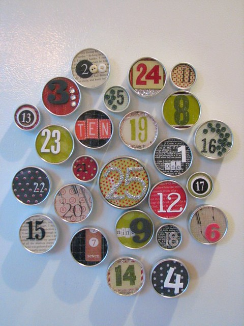 magnetic tins advent calendar