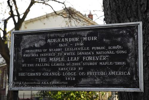 Alexander Muir Plaque