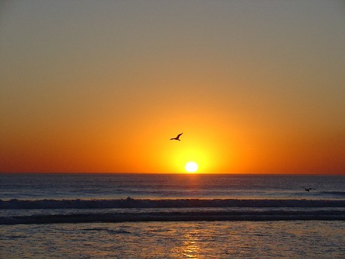 Lisboa Costa da Caparica -  pôr do sol