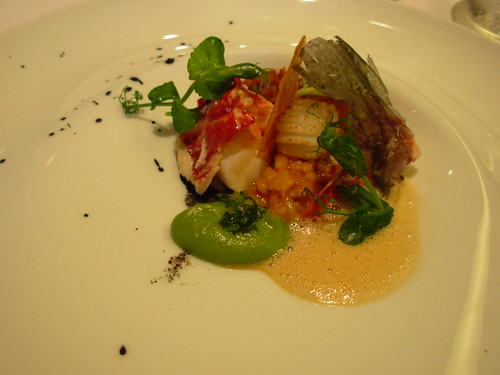 Oud Sluis June 2007 Bomba Rice Paella with Zealand Lobster, Chroizo, Squid, Suace of Crustacians and Cremolata