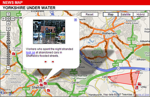 Sky News flood map