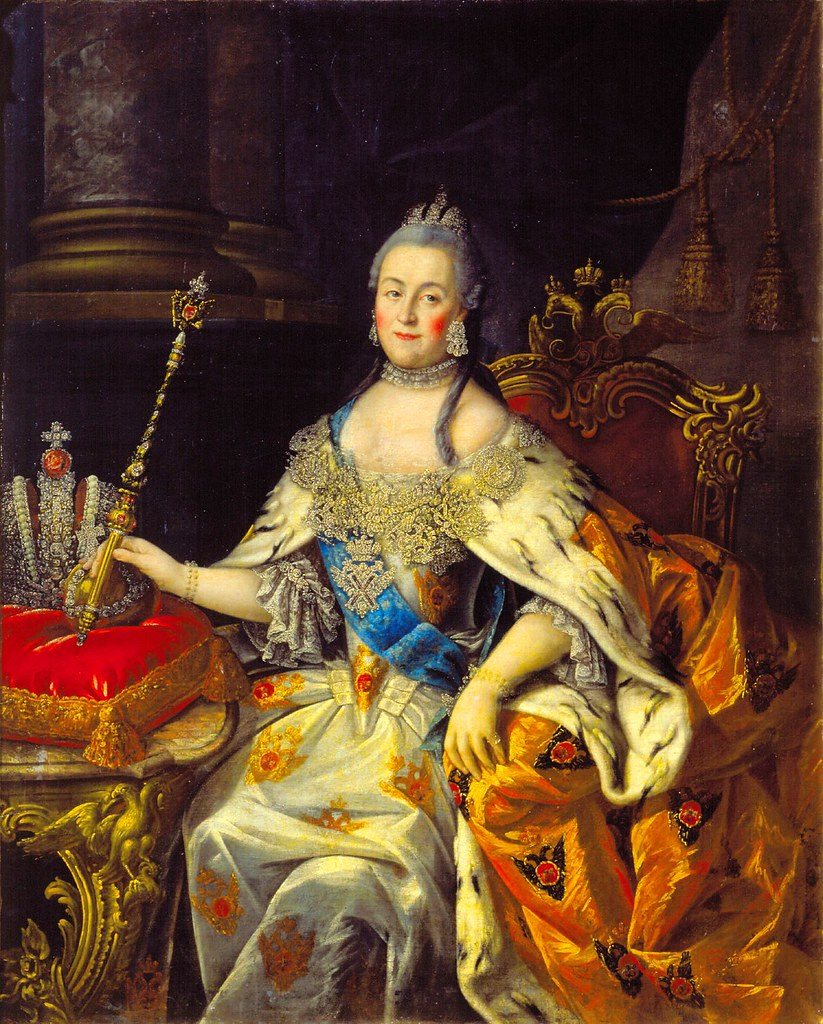 Portrait of Russian empress Catherine II, Catherine the Great, Екатерина II Великая, by Alexei Antropov, Алексей Петрович Антропов
