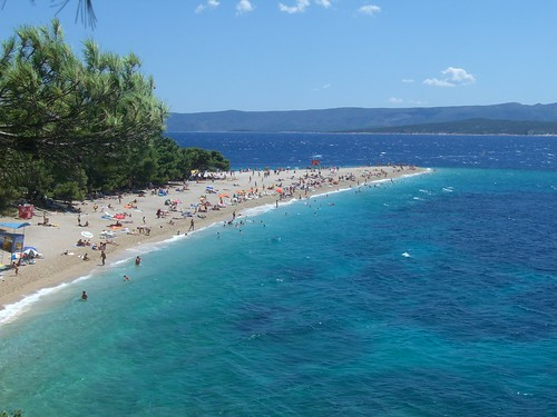 Beach at Bol, Island of Brac, Croatia
