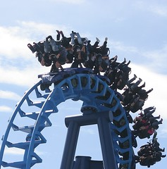 Head over heels (Heaven`s Gate (John)) Tags: blue vacation england danger wow fun happy upsidedown fear rollercoaster funfair blackpool exciting bigdipper pleasurebeach johndalkin heavensgatejohn onlythebest p1f1 onlythebestare