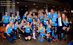 GothamVsWindyCity_ZivK067 (Zeeev) Tags: sports women rollerderby rollergirls skaters trophies champions afterparty wftda heartlandhavoc