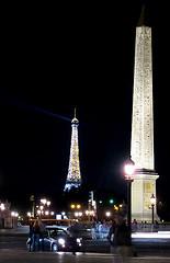 light-saber (WiseBen) Tags: paris france night lights eiffeltower concorde obelisque