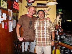 DImo (Gus' Pub owner) and Me