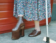 5b91 (betsboot) Tags: boots crutches appliances raised polio orthotic