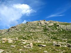 Depuis Bocca d'Asinau: vue de Punta Muvrareccia