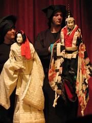 Bunraku puppets, close-up