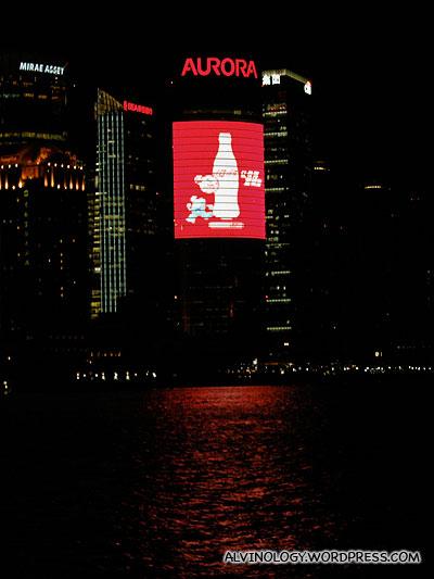 Coca-Cola ad! How appropriate!