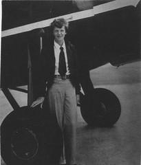 Earhart , Amelia (San Diego Air & Space Museum Archives) Tags: sdasm aviation aeronautics sandiegoairandspacemuseum flight ameliaearhart aviator aviatrix earhart lockheed lockheedvega