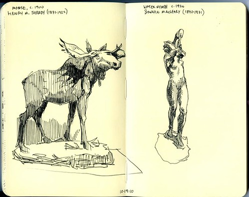 moose and water nymph