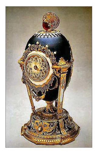 006-Huevo reloj de gallo 1900-Faberge