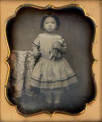 Spanish Doll Daguerreotype (Mirror Image Gallery) Tags: daguerreotype 1850 victorianfashion chinaheaddoll victorianchild victoriantoys offshoulderdress spanishdaguerreotype