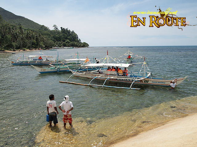 The Boats ferrying peole to the Underground River