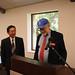 Dr. Kaplan introduces Dr. Yenokida to speak on behalf of the Merkin family at the OLLI room dedication.