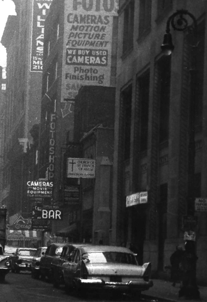 NY camera shop ca 1962