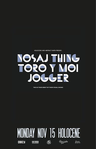 Tonight: Holocene & Abstract Earth Project Presents Nosaj Thing, Toro Y Moi, Jogger + Win Tickets