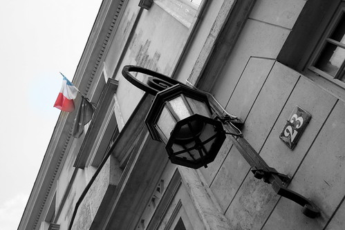 French flag on the paris wall. Number 23.