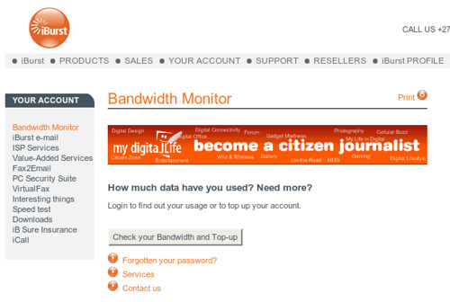 My Digital life on iburst.co.za?