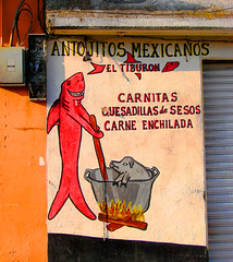 antojitos mexicanos / mexican snacks (ix2013) Tags: mxico facade mexico fire shark pig df flames cook snacks fuego fachada llamas cocinar cerdo novideo tiburn antojitos milpaalta cuauhtenco